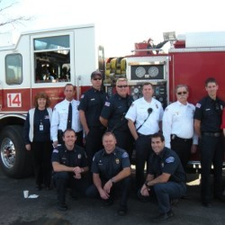 Chief Moore, along with Hidden Valley Firefighter and staff