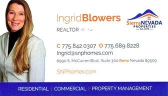 Ingrid Blowers Realtor