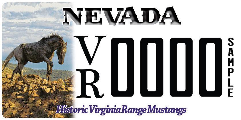 Virginia Range Mustangs License Plate